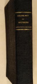 BIOT (Col.). Souvenirs anecdotiques et militaires (1812-1832).  (2)