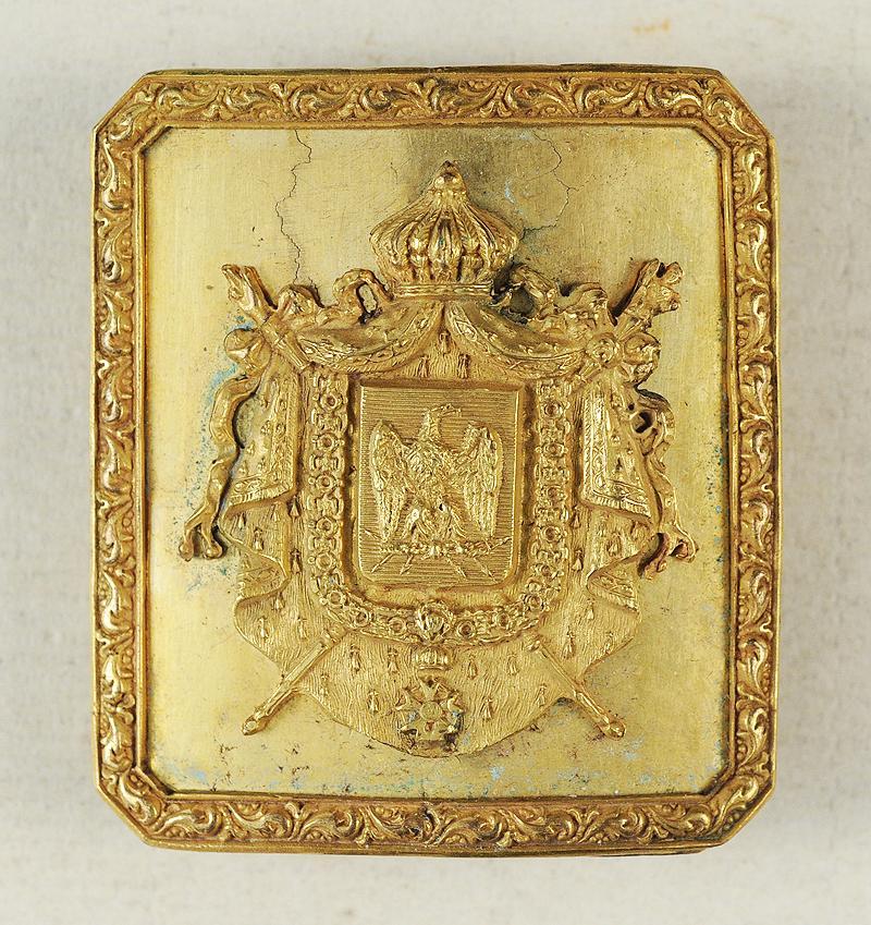 plaque de ceinturon d 39 officier des cent gardes de la maison militaire de l 39 empereur napol on iii. Black Bedroom Furniture Sets. Home Design Ideas