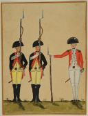 DESSIN DE SOLDATS PRUSSIENS, XVIIIe SIECLE