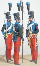 1822. Chasseurs à Cheval. Brigadier, Chasseurs (13e Régiment - de la Meuse).