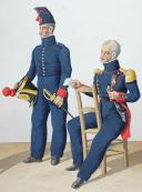 1830. Canonniers Sédentaires. Canonnier, Lieutenant.