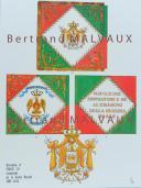 RIGO (ALBERT RIGONDAUD) : LE PLUMET PLANCHE D8 : DRAPEAUX ÉTENDARDS ROYAUME D'ITALIE GARDE ROYALE (I) 1805-1814