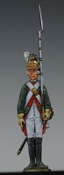 """Photo 1 : FIGURINE DEMI-RONDE BOSSE DRAGON 1786 DU RÉGIMENT """"BOUFLERS""""."""