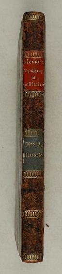 Photo 2 : MÉMORIAL TOPOGRAPHIQUE ET MILITAIRE rédigé au dépôt général de la guerre – imprimé par ordre du ministre