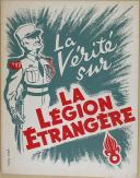 """LOGÉ (Lucien) – """" La vérité sur La Légion Étrangère """" - Brochure - Paris"""