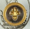 BOUTON D'OFFICIER DE MILICE BOURGEOISE, ANCIENNE MONARCHIE