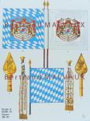 RIGO (ALBERT RIGONDAUD) : LE PLUMET PLANCHE D7 : DRAPEAUX ÉTENDARDS ROYAUME DE BAVIÈRE (II) 1806-1813
