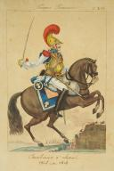 MARTINET, CARABINIER À CHEVAL, 1806-1814 : Gravure, Premier Empire.