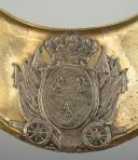 Photo 2 : HAUSSE-COL D'OFFICIER D'ARTILLERIE OU D'ARTILLERIE DE LA GARDE NATIONALE, MODÈLE 1789, RÉVOLUTION.