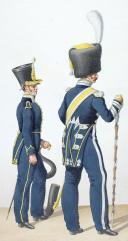 1822. Infanterie Légère. Musicien, Tambour-Major, Cornet de Carabiniers (2)