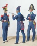 Photo 2 : 1824. Employés d'Artillerie et Compagnie d'Armuriers. Sergent d'Armuriers, Réviseur d'Armes, Maître-Artificier.