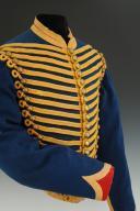 Photo 2 : DOLMAN DU 8ème RÉGIMENT DE HUSSARDS, modèle 1860, Second Empire (1860-1869).