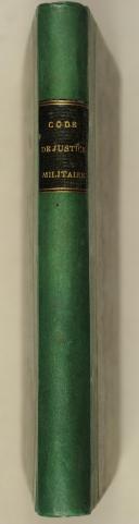 Photo 2 : VEXIAU – Commentaire abrégé sur le code de justice militaire pour l'armée de terre – 4 août 1857