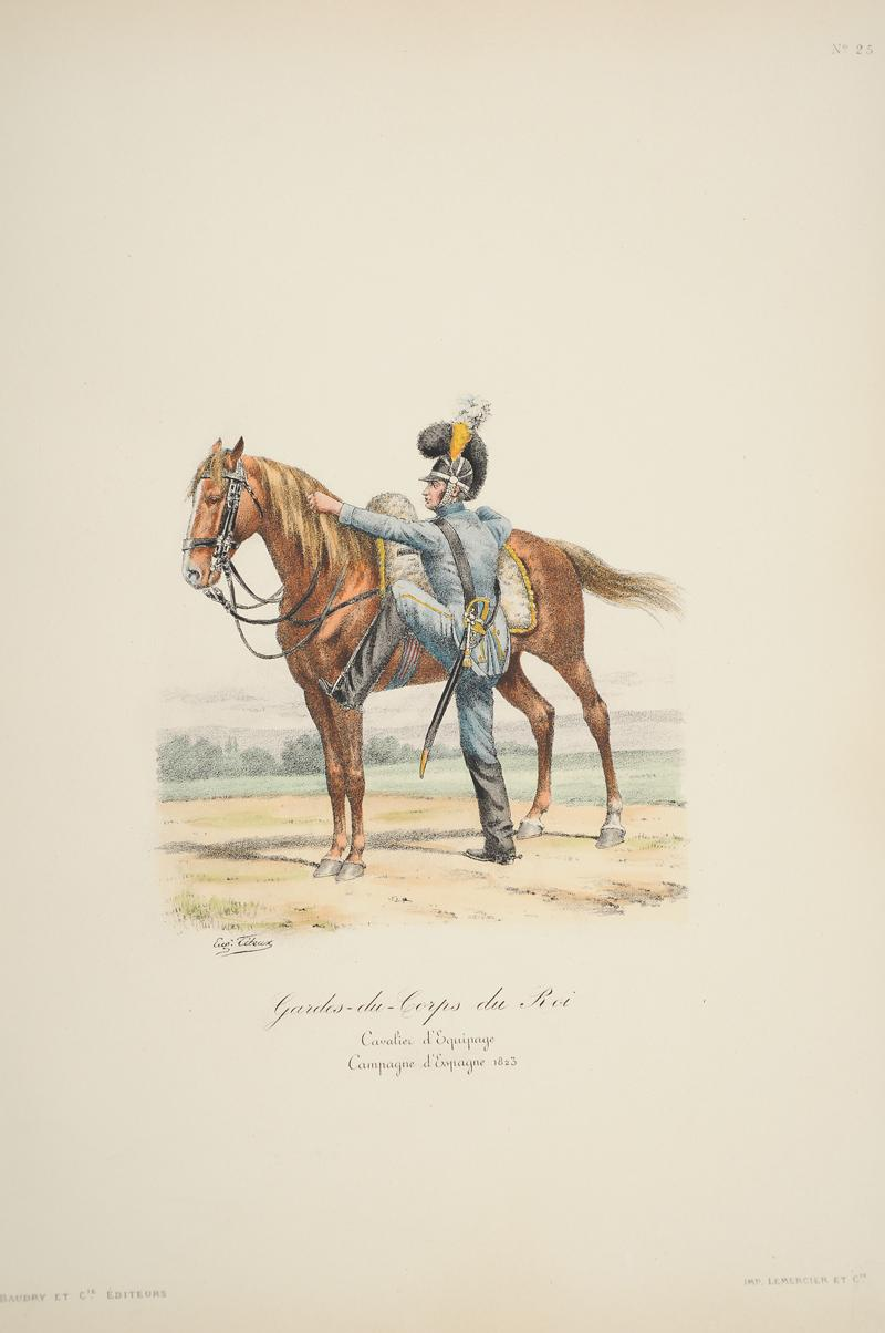 gardes du corps du roi cavalier d 39 equipage campagne d 39 espagne 1823. Black Bedroom Furniture Sets. Home Design Ideas