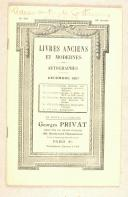 LIVRES ANCIENS ET MODERNES  (1)
