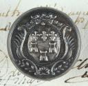 BOUTON DE LA GARDE NATIONALE DE TOURS, MODÈLE 1798-1790, GROS MODULE, RÉVOLUTION.
