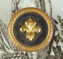 BOUTON D'OFFICIER DE MILICE BOURGEOISE, ANCIENNE MONARCHIE (1)