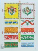 RIGO (ALBERT RIGONDAUD) : LE PLUMET PLANCHE D6 : DRAPEAUX ÉTENDARDS ROYAUME DE SAXE (II) 1811-1813