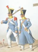 Photo 2 : 1824. Infanterie Légère. Sergent-Major de Carabiniers, Ajudant Sous-Officier