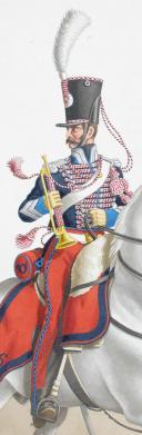 1824. Chasseurs à Cheval. Trompette-Major (16e Régiment - de l'Orne). (2)