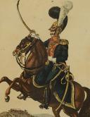 Photo 2 : MARTINET : Troupes françaises, planche 239, officier du 3ème Régiment des Chevau-Légers Lanciers, Premier Empire.