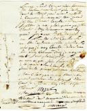 Photo 3 : LETTRE DE JACQUES MASSON, tambour dans la compagnie des canonniers du cantonnement de Monvaux en Flandre, Armée du Pas de Calais, AU CITOYEN RATHELOT, à Flavigny en Bourgogne,  3 novembre 1793.