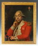 HUILE SUR TOILE, DE Dominique Ferdinand Marie LEFEVRE de LATTRE D'HEILLYE, SEIGNEUR DE LIGNY, LIEUTENANT-COLONEL DES GARDES WALLONNES DU ROI, COMMANDEUR DE L'ORDRE DE MALTE, LOUIX XVI. (1)