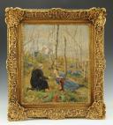 JOSEPH NICOLAS JOUY (1809-1880), HUILE SUR TOILE : TIRAILLEUR ALGÉRIEN SECOND EMPIRE.