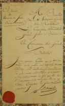 LETTRE MANUSCRITE SIGNÉE DU GÉNÉRAL SABIN BOURCIER AU COMMISSAIRE DES GUERRES BOUDEILLE, Révolution.