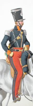 1824. Chasseurs à Cheval. Capitaine en Second (24e Régiment - des Vosges). (2)