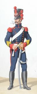 Photo 2 : 1816. Artillerie à Cheval, Maréchal des Logis-Trompette, Brigadier.