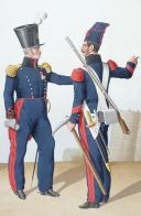 Photo 2 : 1830. Génie. Tambour, Colonel, Caporal.