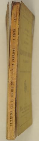 Photo 2 : Décret du 2 décembre 1913 portant règlement sur les services des armées en campagne
