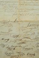 Photo 3 : CERTIFICAT DE LIBÉRATION DU CAPORAL JOSEPH DUFIEU, DU 24ème RÉGIMENT D'INFANTERIE DE LIGNE, 6 mai 1813, Premier Empire.