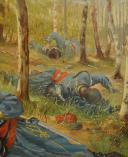 Photo 5 : JOSEPH NICOLAS JOUY (1809-1880), HUILE SUR TOILE : TIRAILLEUR ALGÉRIEN SECOND EMPIRE.
