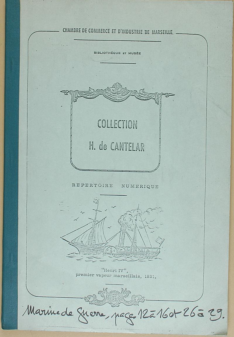Brunon collection de h de cantelar r pertoire for Chambre de commerce marseille provence