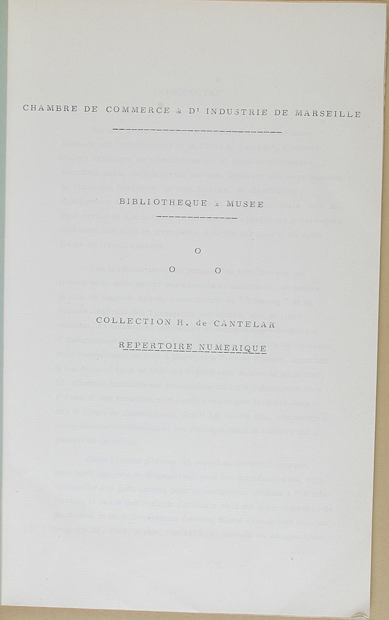Brunon collection de h de cantelar r pertoire num rique chambre de commerce - Chambre des commerce marseille ...