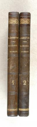 CHRISTIAN. Souvenirs du maréchal Bugeaud, de l'Algérie et du Maroc.