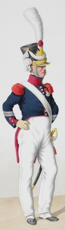Photo 2 : 1830. Garde Royale. Compagnies Sédentaires. Sergent de Fusiliers Sédentaires, Sous-Officier Sédentaire.