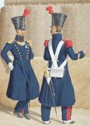 1830. Génie. Sapeur, Officier, Sergent. (2)