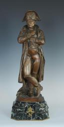 PINEDO Émile (1840-1916) : BRONZE PATINÉ REPRÉSENTANT NAPOLÉON 1er, FIN XIXème début XX° SIÈCLE. (3)