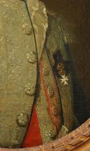 Photo 6 : HUILE SUR TOILE, DE Pierre-François LEFEVRE de LATTRE D'HAILLY, SEIGNEUR DE LIGNY, OFFICIER DES GARDES WALLONNES DU ROI, COMMANDEUR DE L'ORDRE DE MALTE, LOUIX XVI.