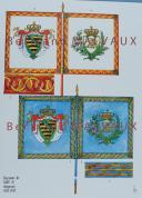 RIGO (ALBERT RIGONDAUD) : LE PLUMET PLANCHE D2 : DRAPEAUX ÉTENDARDS ROYAUME DE SAXE (I) 1811-1813