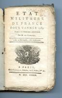 ÉTAT MILITAIRE DE FRANCE POUR L'ANNÉE 1789.