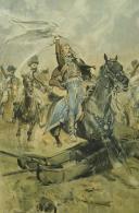 DETAILLE EDOUARD, « LE DRAPEAU CONQUIS » : Lithographie couleurs, Premier Empire.