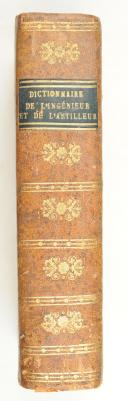 JOMBERT. Dictionnaire portatif de l'ingénieur et de l'artilleur. Composé originairement par feu M.Belidor.