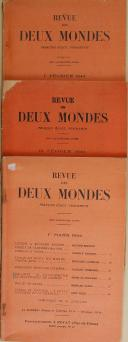 """VAUDOYER - """" La Revue Littérature, Histoire, Arts et Sciences des deux mondes """" - Lot de périodiques - 1er juin 1963 - Paris  (2)"""