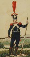 Photo 2 : MARTINET : Troupes françaises, planche 13, carabinier d'Infanterie Légère, Premier Empire.
