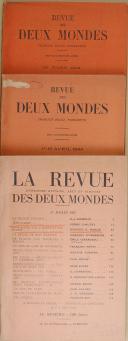 """Photo 3 : VAUDOYER - """" La Revue Littérature, Histoire, Arts et Sciences des deux mondes """" - Lot de périodiques - 1er juin 1963 - Paris"""