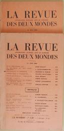 """VAUDOYER - """" La Revue Littérature, Histoire, Arts et Sciences des deux mondes """" - Lot de périodiques - 1er juin 1963 - Paris  (4)"""